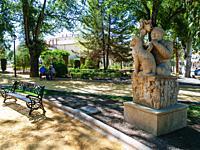 Paseo de los Alamos urban park. Alcalá la Real, Jaén, Andalucía, Spain, Europe.