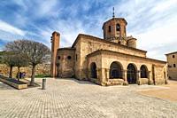St. Michael church in Almazan. Soria. Spain. Europe.