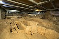 Merida, Spain Crypt of Santa Eulalia Basilica in Merida. A showcase of the town. twenty centuries of history, Extremadura, Spain.