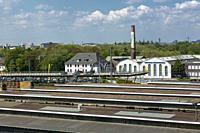 Oberhausen, Alt-Oberhausen, Germany, Oberhausen, Alt-Oberhausen, Ruhr area, Lower Rhine, Rhineland, North Rhine-Westphalia, NRW, view across the stati...