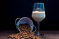 Cup of horchata with tigernuts.