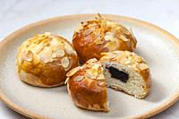 almond pastry filled with plum jam.