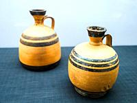 Two perfumed-oil Flask - Santa Venera, Tomb 341 (late 6th century BC) - Archaeological Area of Paestum - Salerno, Italy.