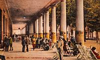 contrexeville, the galleries of the pavilion, postcard 1900.