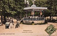 contrxeville, music kiosk, postcard 1900.