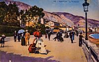 chin, the promenade, postcard 1900.