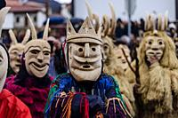 Caretos of Lazarim (masked figures), Portugal.