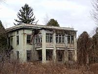 Abandoned Allegany County Poorhouse, Angelica, New York, USA.
