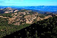 Landscape from the climb to Peñagolosa peak. Peñagolosa natural park. Castellón.