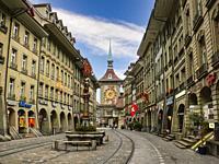 Musketeer Fountain (Schützenbrunnen) . Bern. Switzerland.