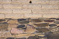 Campanario, Spain - May 17th 2018: La Mata archeological site. Impressive protohistoric building placed in Campanario, Extremadura, Spain. Adobe and s...