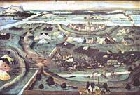 Battle of Pavia. 1526 engagement of the Italian War between France and the Habsburg empire. Painted by Joachim Patinir follower.