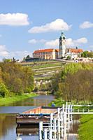 Melnik Castle with Vltava river, Czech Republic.
