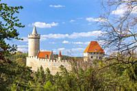 Kokorin castle near Melnik, Central Bohemia, Czech Republic.