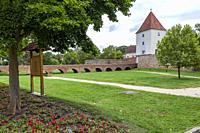 Sarvar Castle (Nadasdy var), Western Transdanubia, Hungary.