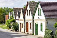 cellar lane in Hajos, Kalocsa County, Southern Great Plain Region, Hungary.