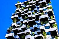 Brand new vertical forest at Strijp-S in Eindhoven, The Netherlands, Europe.