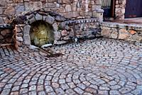 Maruste stone fountain, Bustarviejo, Madrid, Spain