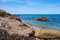 landscape of adriatic sea coast, in abruzzo, italy.