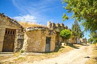 Traditional wine cellars. Moradillo de Roa, Burgos province, Castilla Leon, Spain.