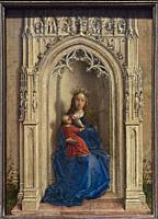 Rogier van der Weyden. The Virgin and Child enthroned. ca. 1433. Oil on panel. 15. 8 x 11. 4 cm.