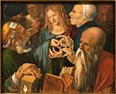 Albrecht Dürer. Jesus Among the Doctors. 1506. Oil on panel. 64. 3 x 80. 3 cm.