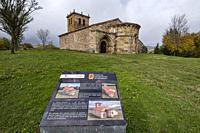church of Santa María La Mayor, Romanesque, 12th century, Villacantid,Cantabria, Spain.