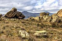 Granite rocks in Sierra Cabrera. Madrid. Spain. Europe.
