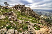 Muniana Cliff in Cadalso de los Vidrios. Madrid. Spain. Europe.