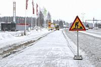 Men at work traffic sign, Finland.
