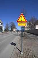 city street scenery in Hamina, Finland.