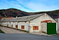 Storehouse in Bustarviejo surroundings, Madrid province, Spain.