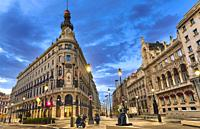 Four seasons Hotel Madrid, a luxury lodge located in a historical landmark at the city center. Madrid. Spain.