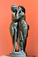 Amour and Psyche bronze sculpture. Caterine the Great Park. Pushkin Russia