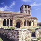Romanesque Church of San Miguel de Sotosalbos. Segovia. Spain.