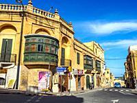 Street scene of Victoria (Rabat) - Gozo.