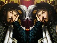Men in Art, portrait of a young man painted by Alessandro Moretto in the year 1545, reflected in a mirror.