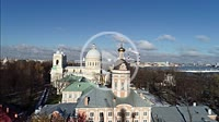 Aerial 4K, Alexander Nevsky Lavra/ St.Petersburg Russia Europe