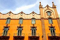 balconies and windows, Torre Andreu, La Rotonda, 1910, modernism, architect Adolf Ruiz i Casamitjana, Avinguda Tibidabo, Barcelona, Catalonia, Spain