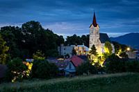 Dawn at Turciansky Dur village in Slovakia.