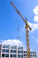Crane at a construction site in Eindhoven, The Netherlands.