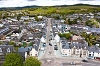 Aerial view of Lochgilphead in Argyll and Bute, Scotland, UK.