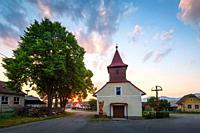 Church in Leziachov village, Slovakia.