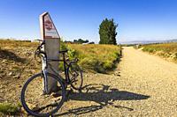 High point marker on the Otago Central Rail Trail, Otago, South Island, New Zealand.