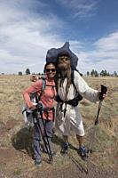 Thru hikers on the Arizona Trail, Flagstaff, Arizona, U. S. A.