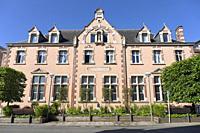 Europe, Luxembourg, Esch-sur-Alzette, Traditional Building on Rue de l'Église.