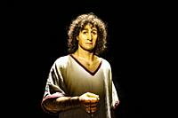 Dermoplasty reconstruction of The Young Man of Byrsa at Carthage (Le Jeune Homme de Byrsa à Carthage), Phoenician who lived 2,500 years ago. On exhib...