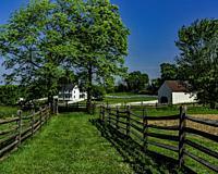 J Poffenberger farm was taken as headquarters for Union General Hooker , Antietam American Civil War Battle of Antietam.