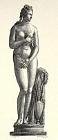 Roman civilization. Marble statue of the Capitoline Venus, Italy. Europe. Old 19th century engraved illustration from El Mundo Ilustrado 1880.