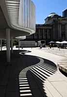 Vancouver Art Gallery plaza in downtown Vancouver, BC, Canada.